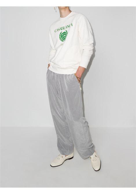 Reverse loopback logo-print sweatshirt in off-white - men CASABLANCA | MF21JTP031OFFWHT