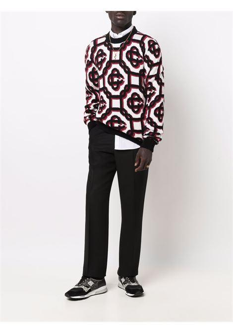 3D monogram crewneck sweater - men  CASABLANCA | MF21KW097OFFWHT