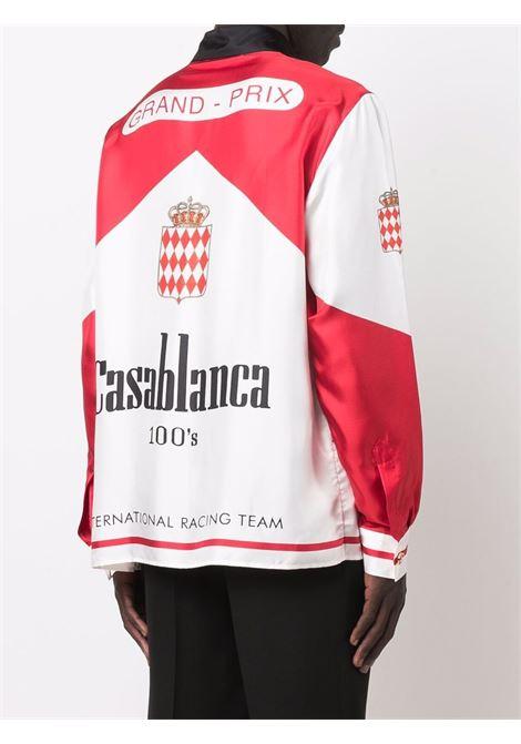 100'S shirt in white and red - man  CASABLANCA | MF21SH021CSBLNC