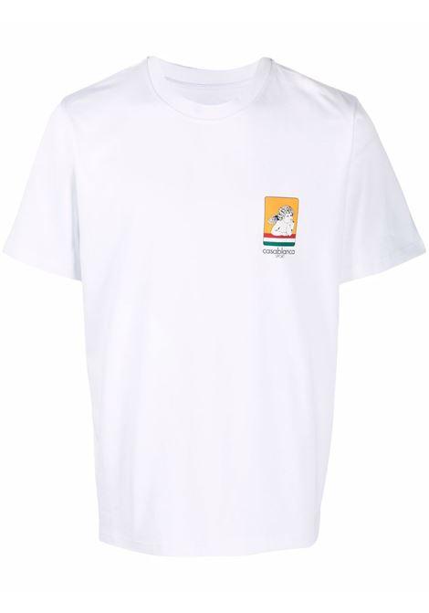 Racing Cherub T-shirt in white - men  CASABLANCA   MF21TS001RACINGCHERUBWHT