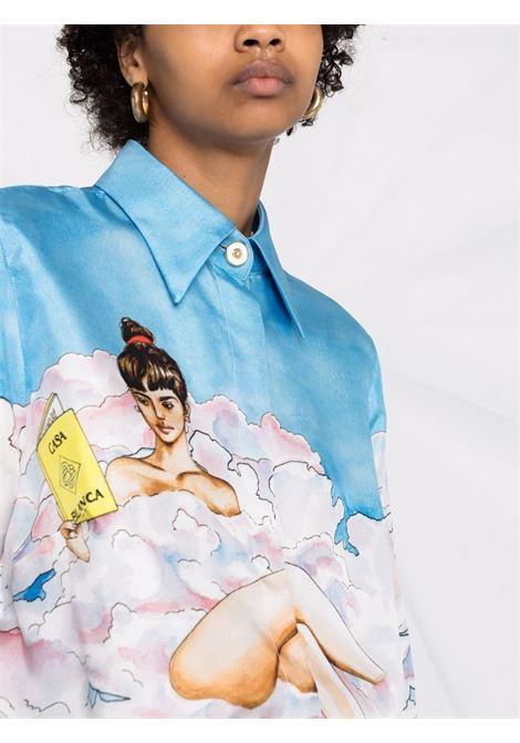 Camicia con stampa in multicolore - donna CASABLANCA | WF21SH008PRNTD