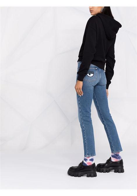 Jeans con ricamo in blu - donna CHIARA FERRAGNI | 71CBB5R3CDW13904