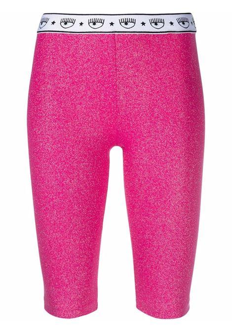 Fuxia Logomania cycling shorts - women  CHIARA FERRAGNI | 71CBD190J0017446