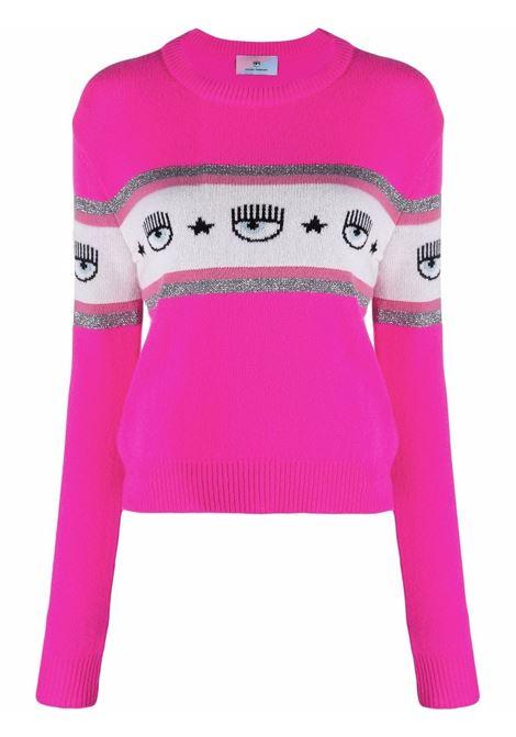Maglione a intarsio eyestar in rosa - donna CHIARA FERRAGNI | 71CBFM23CMP00437