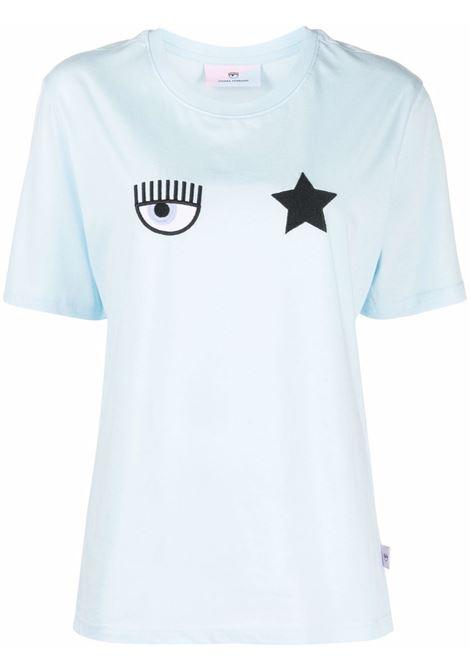 T-shirt a girocollo eyestar in azzurro - donna CHIARA FERRAGNI | 71CBHT01CJC0T216