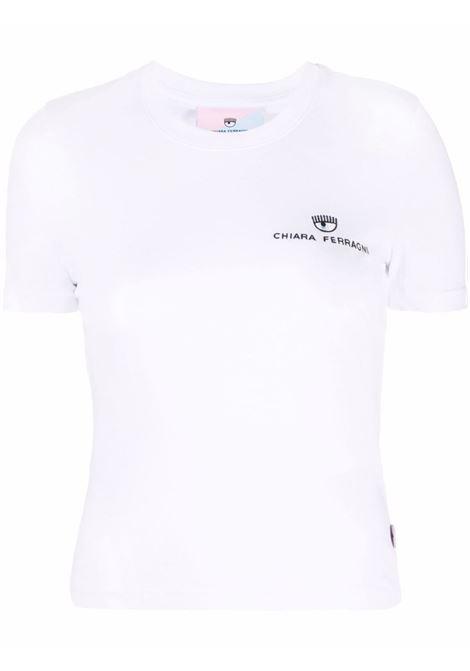 T-shirt a girocollo in bianco - donna CHIARA FERRAGNI | 71CBHT09CJC0T003