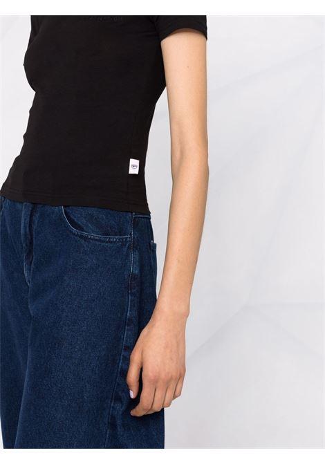 T-shirt a girocollo in nero - donna CHIARA FERRAGNI | 71CBHT09CJC0T899