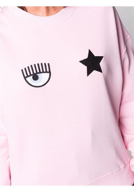 Felpa a girocollo eyestar in rosa - donna CHIARA FERRAGNI | 71CBIT01CFC0T439