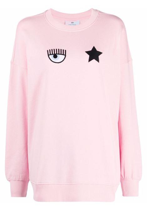 Felpa con logo Eyestar in rosa - donna CHIARA FERRAGNI | 71CBIT02CFC0T439