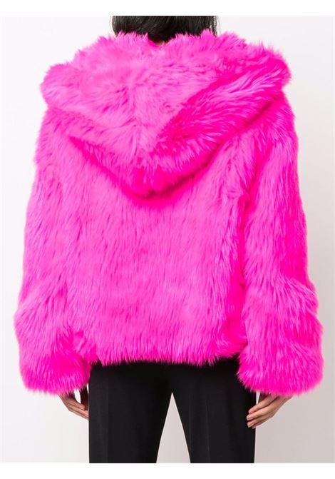 Giacca in eco pelliccia con cappuccio in rosa - donna CHIARA FERRAGNI | 71CBS420U0005437