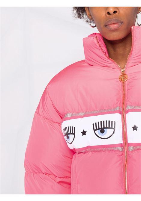Piumino con stampa eyestar in rosa - donna CHIARA FERRAGNI | 71CBU470CQS17437