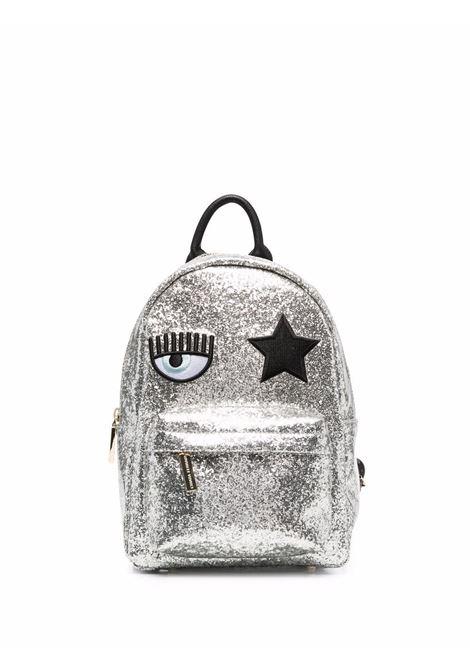 Zaino con logo Eyestar in argento - donna CHIARA FERRAGNI | 71SB4BO1ZS146900