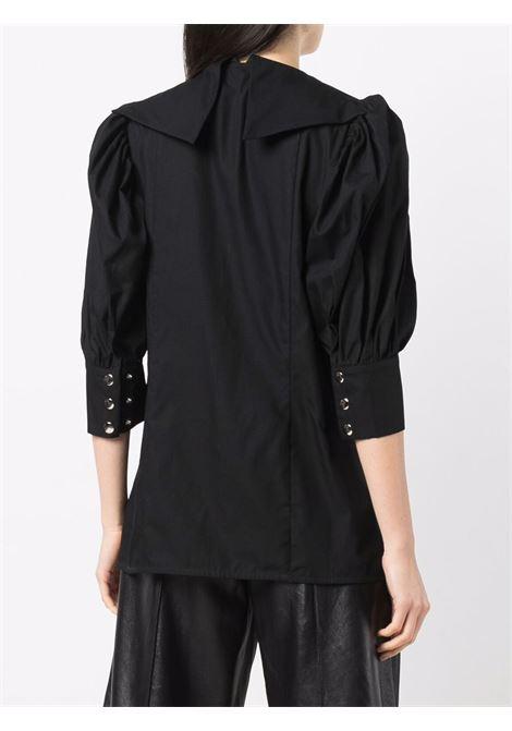 Camicia con logo nero- donna CHOPOVA LOWENA | 2013BLK