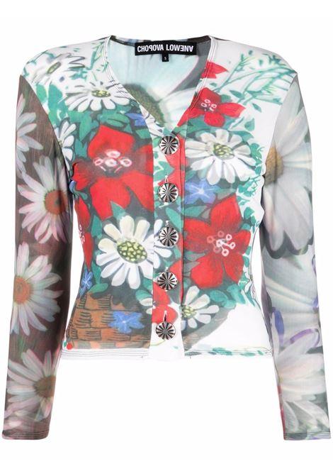 Top con bottoni fiori- donna CHOPOVA LOWENA | 2020RDGRNYLLWWHT