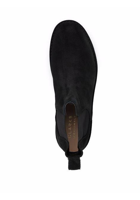 Black desert chelsea elasticated side-panel boots - men  CLARKS ORIGINALS   155560BLK
