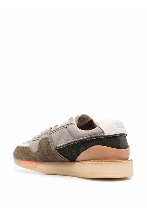 Khaki colour-block panel sneakers - men  CLARKS ORIGINALS | 162590KHK