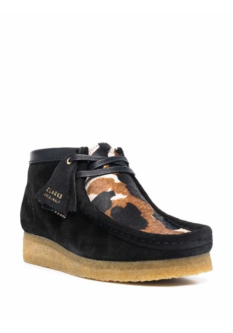 Black Wallabee cow-print suede boots - women  CLARKS ORIGINALS   162985CWRNT