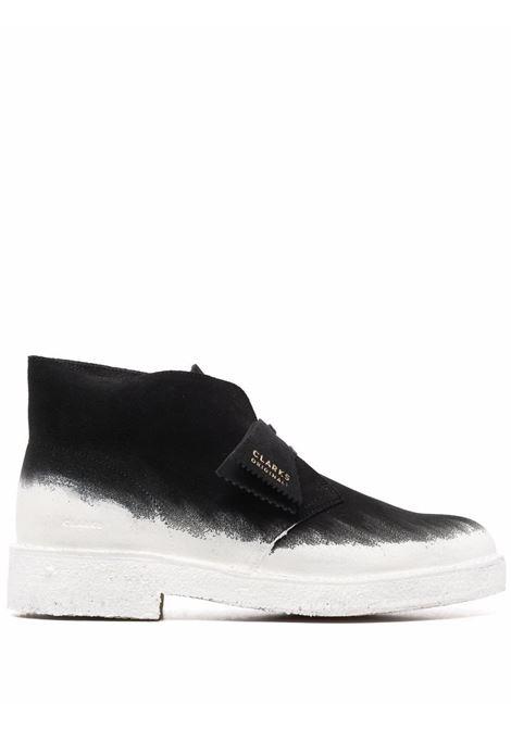 Two-tone boots black and white - men CLARKS ORIGINALS   26162424BLKWHT