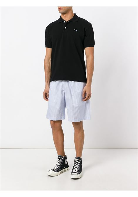 Polo Heart eyes in nero - uomo COMME DES GARCONS PLAY | P1T0661