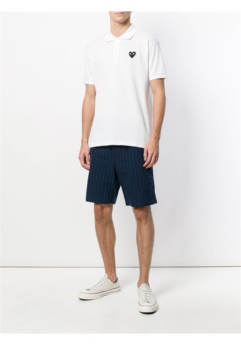 Polo Heart eyes in bianco - uomo COMME DES GARCONS PLAY | P1T0662
