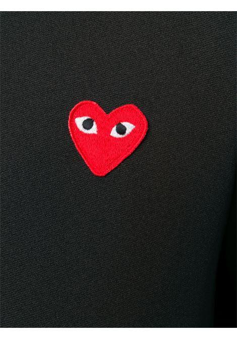 Felpa heart con cappuccio in nero - uomo COMME DES GARCONS PLAY | P1T1721
