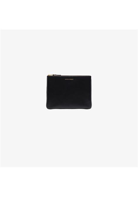 Clutch con logo e chiusura con zip in nero - unisex COMME DES GARCONS WALLET | SA5100BLK