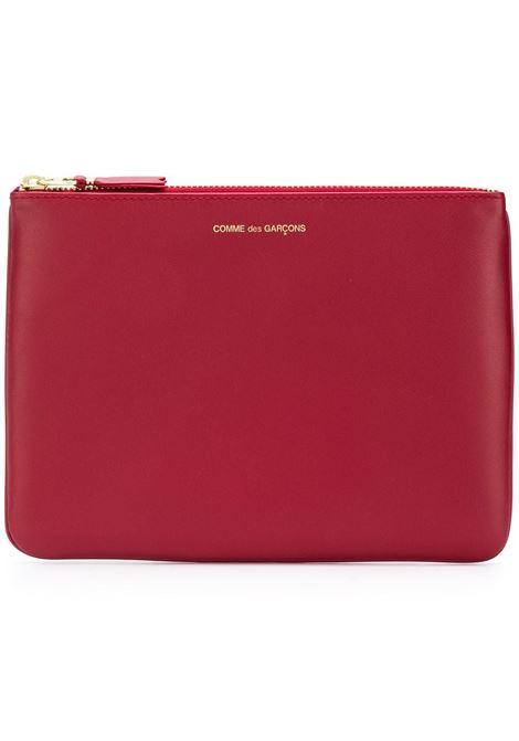 Clutch con logo e chiusura con zip in rosso - unisex COMME DES GARCONS WALLET | SA5100RD