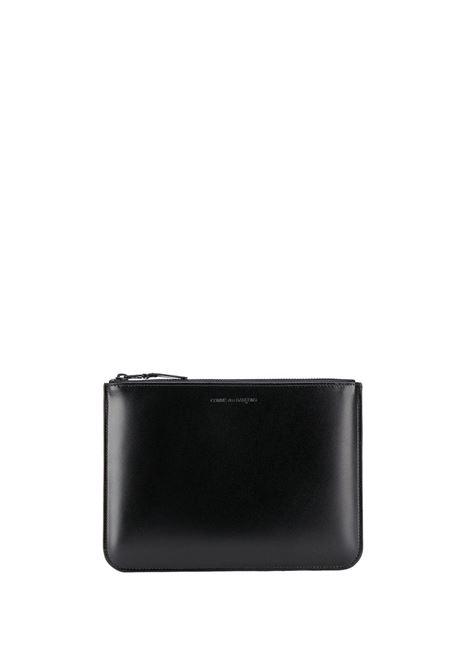 Clutch very black in nero - unisex COMME DES GARCONS WALLET | SA5100VBBLK