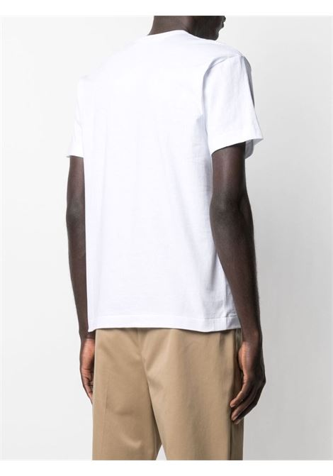 T-shirt con logo in bianco -uomo COMME DES GARCONS PLAY | P1T1082