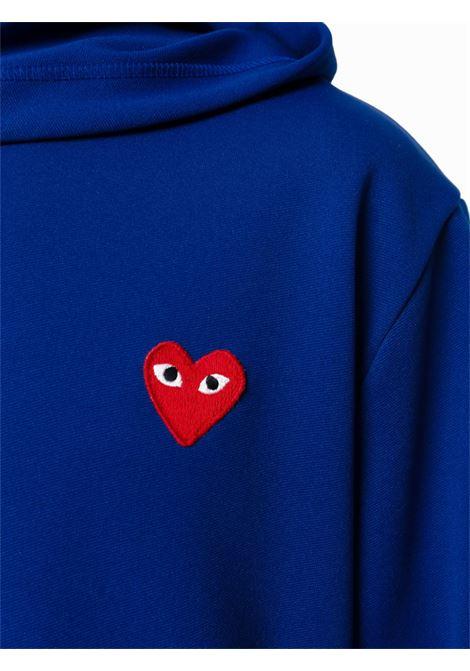 Felpa con stampa in blu - uomo COMME DES GARCONS PLAY | P1T1742