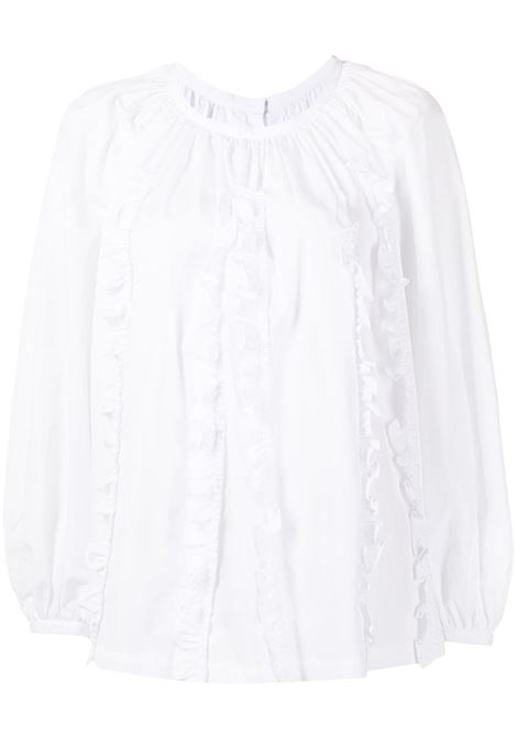 Blusa con ruches in bianco - donna COMME DES GARCONS   RHB0070512
