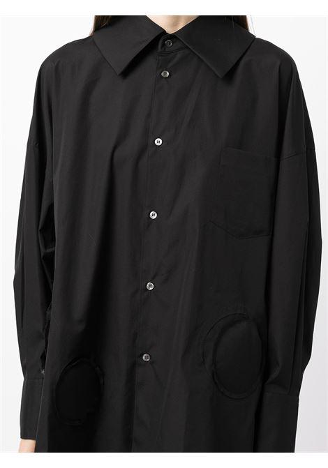 Camicia oversize in nero - donna COMME DES GARCONS   RHB0180511