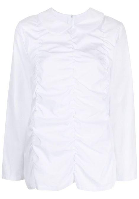 Camicia con ruches in bianco - donna COMME DES GARCONS   RHB0232