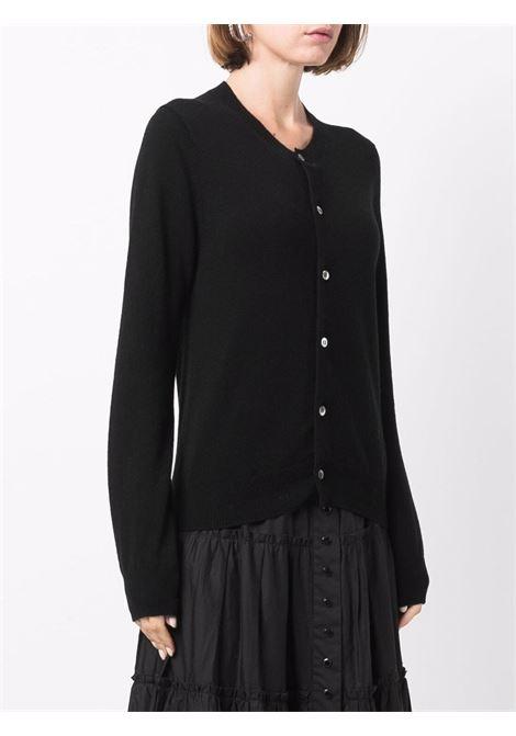 Cardigan girocollo in nero - donna COMME DES GARCONS   RHN0070511