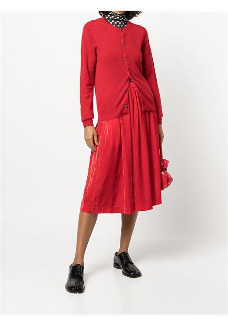 Cardigan girocollo in rosso - donna COMME DES GARCONS   RHN0070513