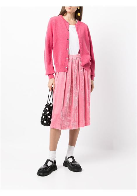 Cardigan girocollo in rosa - donna COMME DES GARCONS   RHN0070516