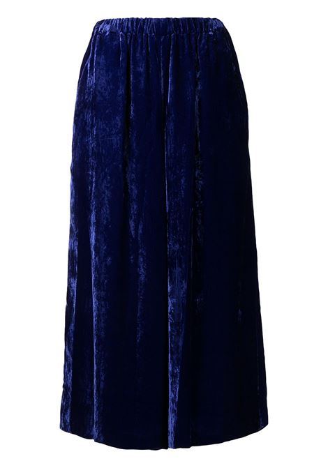 Pantaloni crop a gamba ampia in blu - donna COMME DES GARCONS   RHP0050513