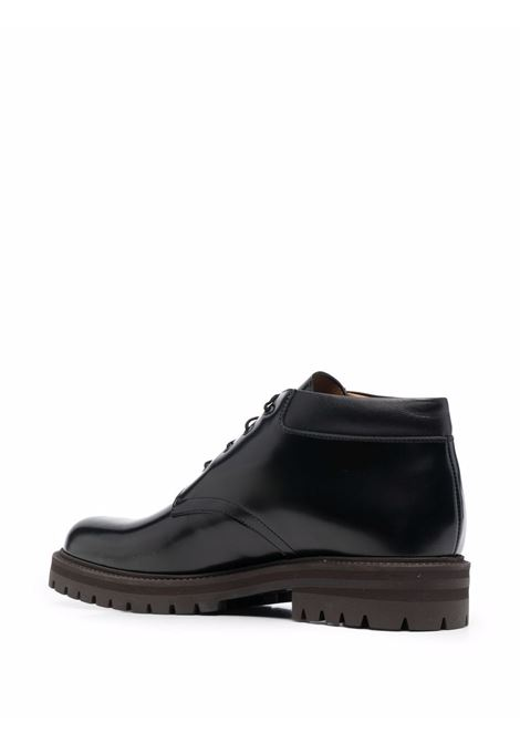 Polished-finish lace-up derby in black - men  COMMON PROJECTS | 23227547