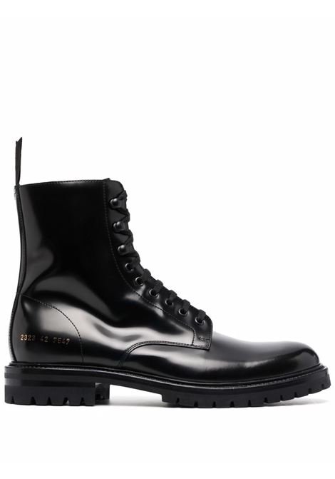 Lace-up leather ankle boots in black - men COMMON PROJECTS | 23237547
