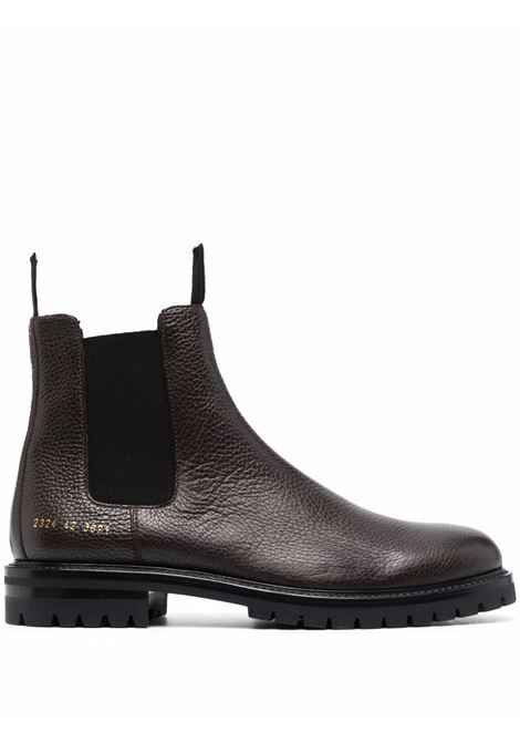Ankle-length leather Chelsea boots in brown - men COMMON PROJECTS | 23243621