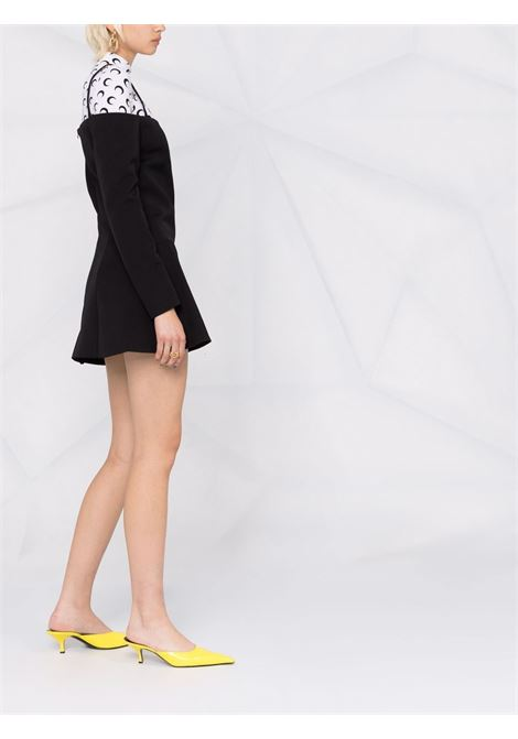 Black off-shoulder long-sleeve mini dress - women  COPERNI | COPF21R20108BLK