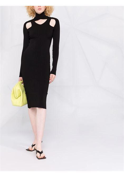Black cut-out knit dress - women  COPERNI | COPP21ML16600BLK
