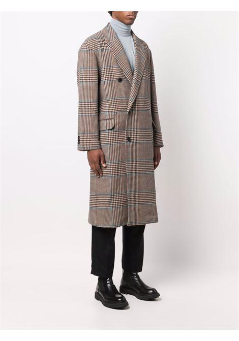 Plaid long coat in multicolour - men COSTUMEIN | CR01NPB1101