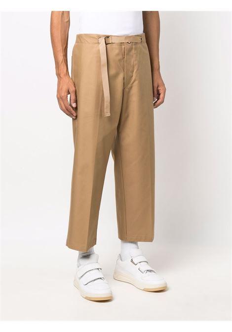 Belted wide-leg cropped trousers in beige - men COSTUMEIN | CR074283