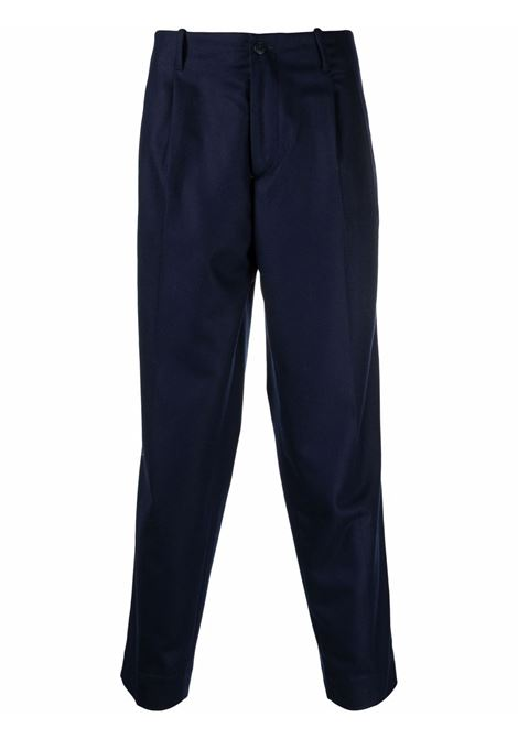High waist tailored trousers in navy blue - men COSTUMEIN | CR41535