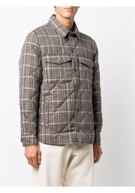 Check print quilted jacket in brown - men COSTUMEIN | CR55V001