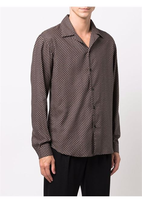 Camicia a pois in beige e nero - uomo COSTUMEIN | R0921