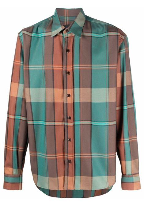 Camicia a quadri in verde e corallo - uomo COSTUMEIN | R10385061
