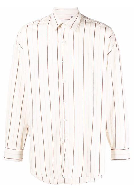Camicia a righe in beige - uomo COSTUMEIN | R113303