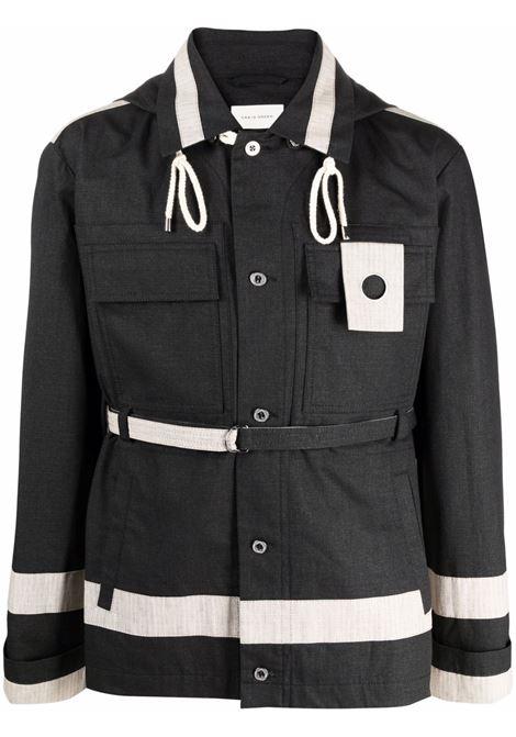 Indigo blue panelled utility hooded jacket - men  CRAIG GREEN | CGAW21CWOJKT06BLK
